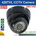 Frete grátis SONY CCD HD 420TVL CCTV CCTV Cam IR câmera de vigilância câmera de segurança câmera dome atacado