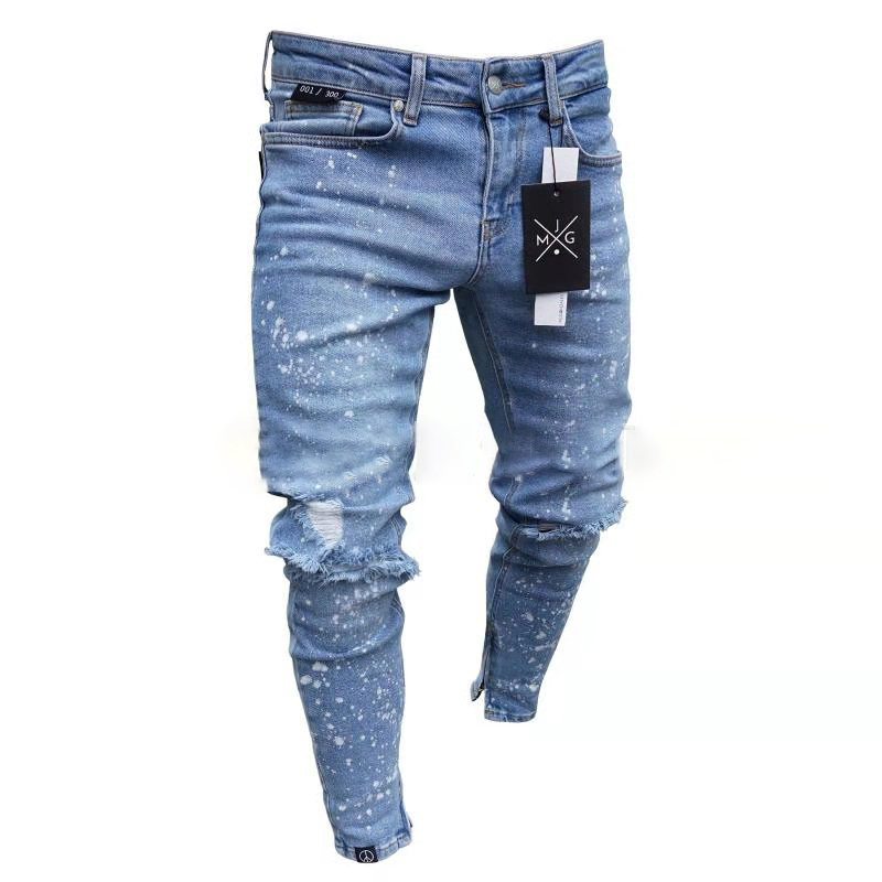 Men Skinny   Jeans   Casual Hip Hop Trousers 2019   Jeans   Stretch Pants Plus Size Streetwear Pencil Pants