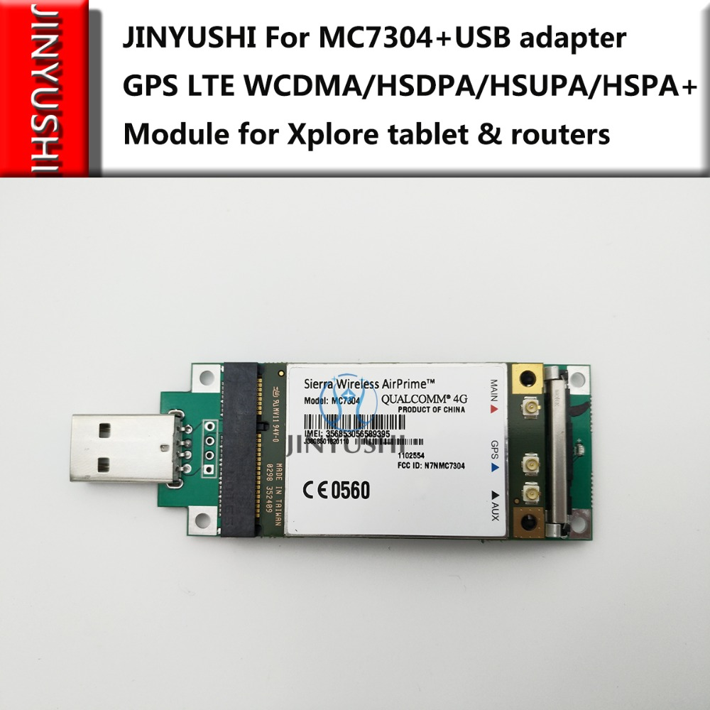Sierra Wireless MC7304 +Mini Pcie to USB transfer card 100% NEW&Original  Support GPS 4G LTE WCDMA/HSDPA/HSUPA/HSPA+