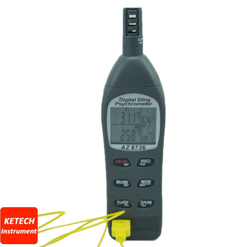 AZ8736 Pocket Temperature/Humidity/Dew Point Meter/Wet Bulb Temperature and Humidity Tester fast shipping az8723 temperature humidity dew point meter wet bulb temperature and humidity az 8723
