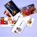 Ventas al por mayor 30 unids/lote Promocionales Regalos 4 gb 8 gb 16 gb Ultra Delgada Tarjeta De Crédito En Forma de Logotipo Personalizado Tarjeta de Visita Usb Flash Drive