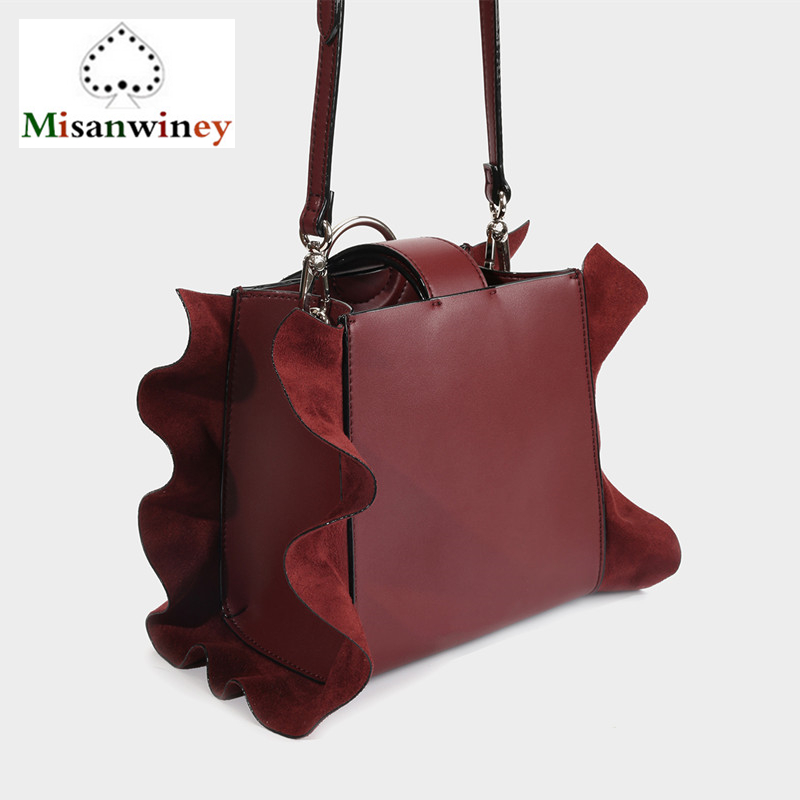 Singapore Famous Brands Designer Ruffled Tote Bags Women Leather Handbags Luxury Shoulder Bag Small Crossbody Bags Blue Red CK-1 mxm fan meeting singapore