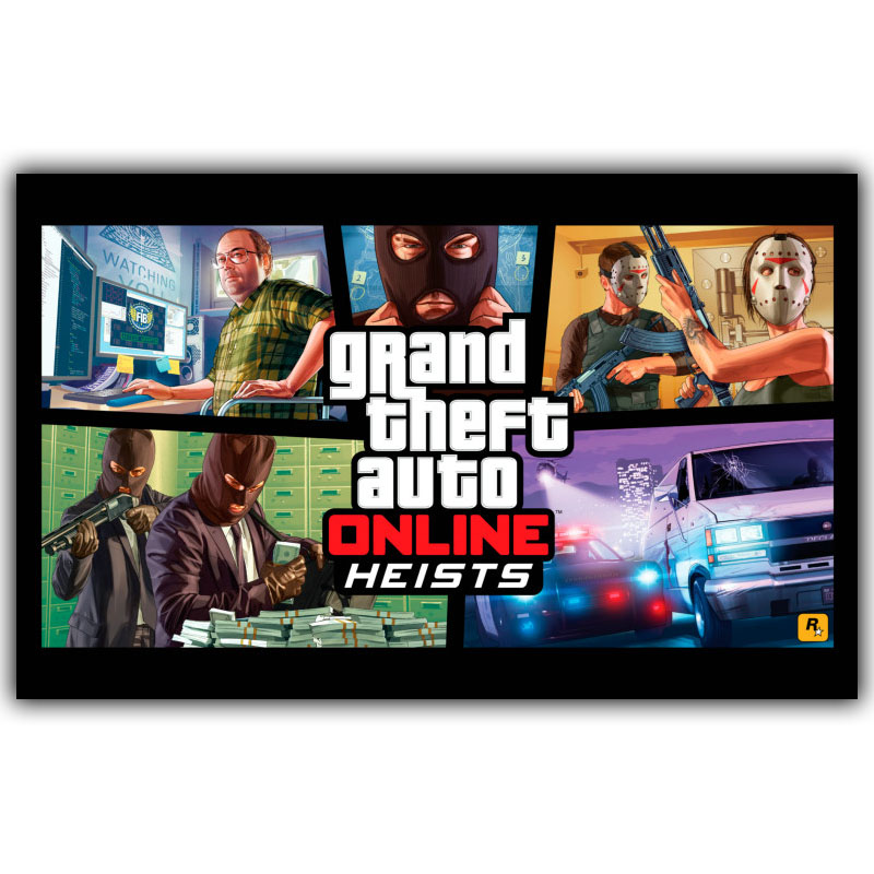 Grand Theft Auto V GTA 5 Game Art Silk Poster Print 30x48cm 60x96cm Game Wall Pictures for Living Room Decor