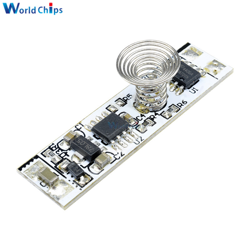 Active Components Integrated Circuits Earnest Touch Switch Capacitive Sensor Module 9v-24v 30w 3a Led Dimming Control Lamps Active Components Three Mode Hard Light Controller