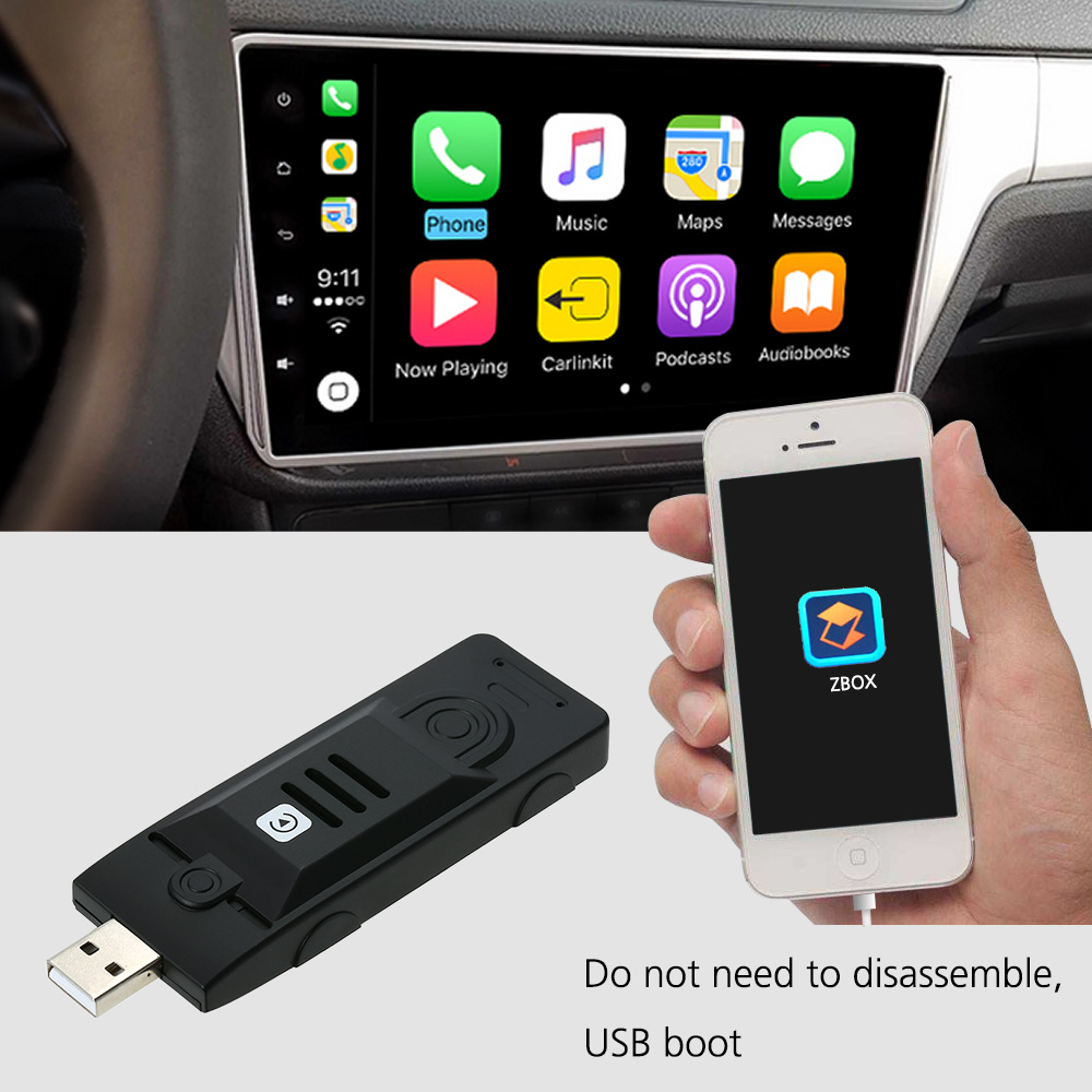Car Android Stereo Smart Assistant CarPlay Module Dongle Adapter USB Interface for iPhone Convenient Portable Car