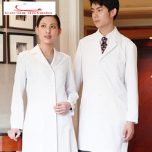 Medical store lab coat white female long sleeve doctor overalls doctors wear hospital