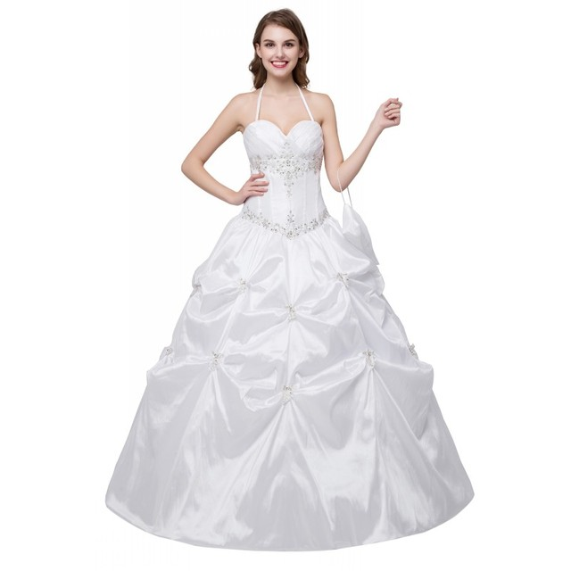 352e96d0cd In Stock Free Shipping Cheap Wedding Dress Ball Gown Princess Elegant  Beaded Embrodiery Floor Length Corset Women Bridal Gowns