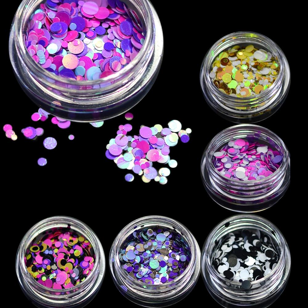 Stz new 1mm 3mm mini round thin nail art glitter for Paillette decoration