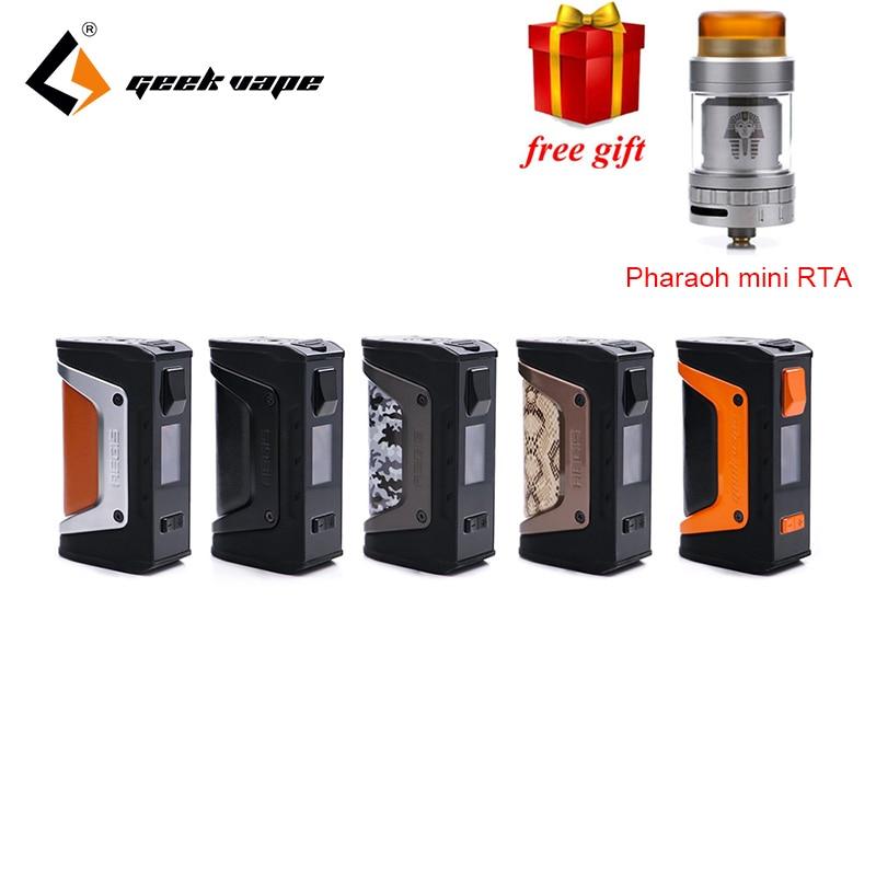 Free gift GeekVape Aegis mod aegis Legend 200W TC Box MOD Powered by Dual 18650 batteries e cigs No Battery for zeus rta blitzen