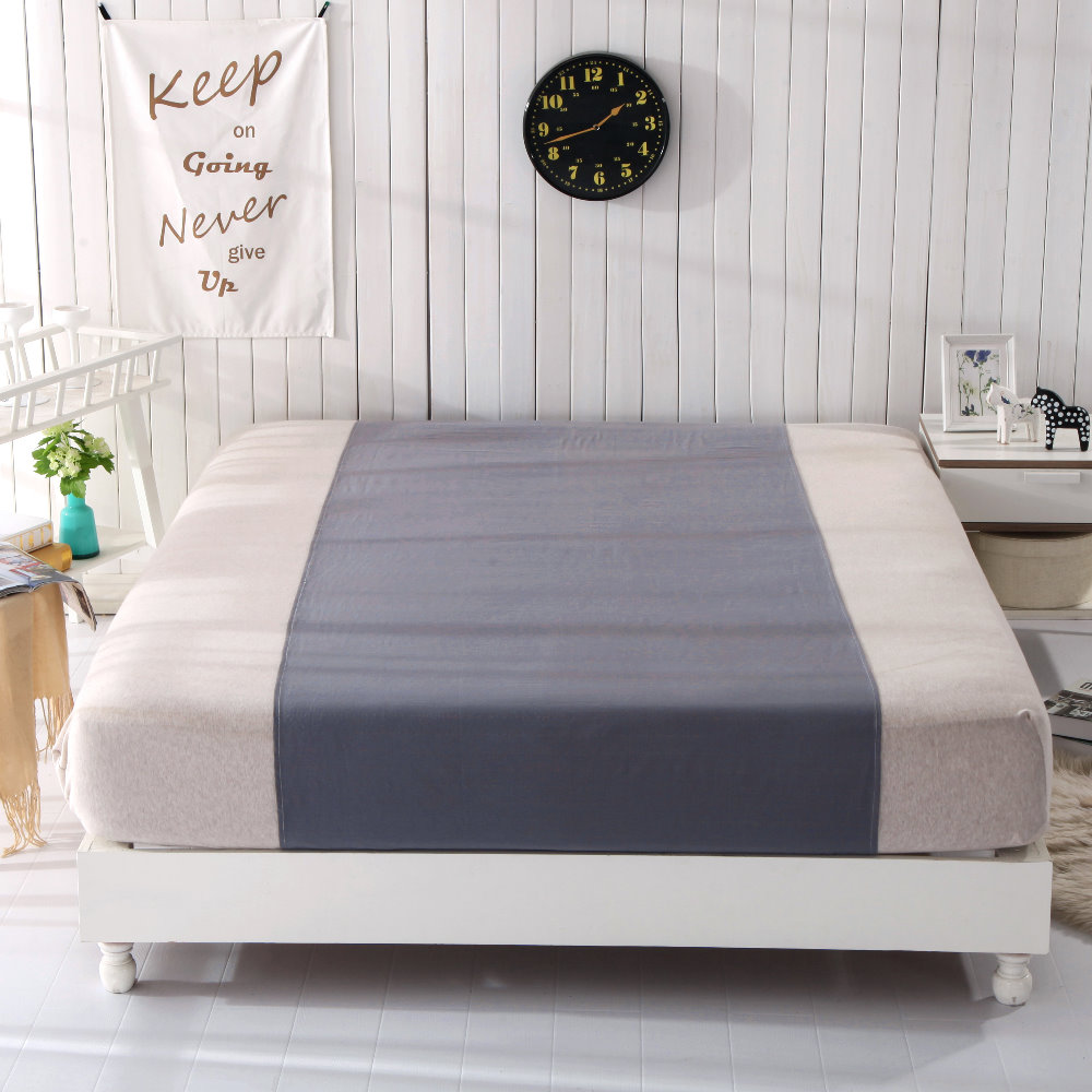 EARTHING New Grey Coulour Half Bed Sheet (60 X 270cm) Silver Antimicrobial Fabric Conductive  Grounding Cotton & Silver