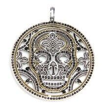 Thomas Estilo Esqueleto Colgante de Collar de Gargantilla, Cubic Zirconia Cráneo Joyería de Los Hombres Frescos del Glam y El Alma Distintivo Esquema De Oro