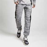 Men Casual Pants Side Striped Harem Pants Gray Black Casual Brand Pants Double Striped Track Mens