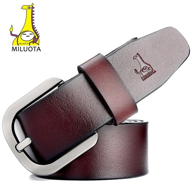 [Miluota] correa de la marca de los hombres hombre hombre de la correa ceinture cinturones de diseñador hombres de alta calidad de cuero genuino mu060