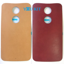 You Kit Original New Real Leather Rear Back Battery Cover Door With Sticker Adhesive For Motorola Moto X 2nd Gen 2014 X2