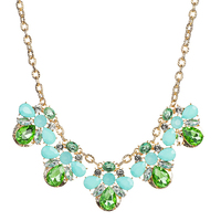 Small Wholesale Austria Crystal Pendant And Short Chain Necklace Exaggerated Street Boutique Korean Clavicle