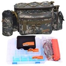 Trulinoya Multifunctional Fishing Bag Lure Bag Waist Pack Fishing Tackle Box Live Fish Buckle Combination(5PCS/LOT)