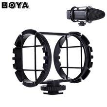 Микрофон Шок крепление BOYA BY-C03 обуви Shockmount для micorpohone 1 «до 2» в Диаметр BY-VM300PS BY-V02 зум H1 h1n Регистраторы
