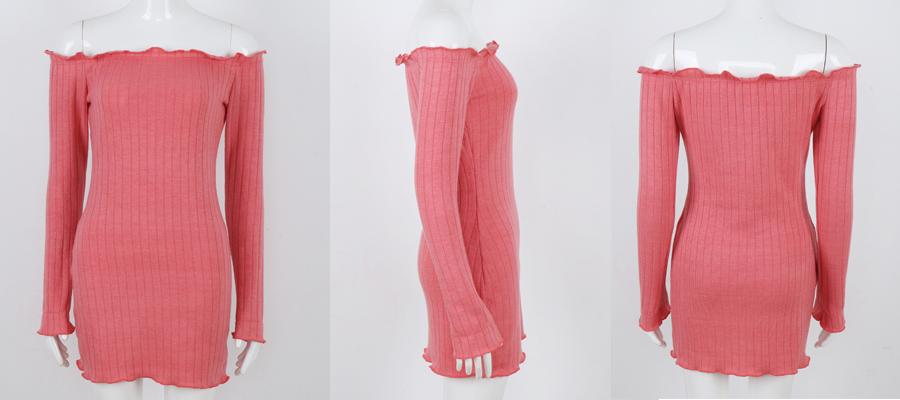 HTB1F.bxbgkLL1JjSZFpq6y7nFXa1 - FREE SHIPPING Women Sexy Off Shoulder  Bodycon Dress Knitted Elastic Sweater JKP304