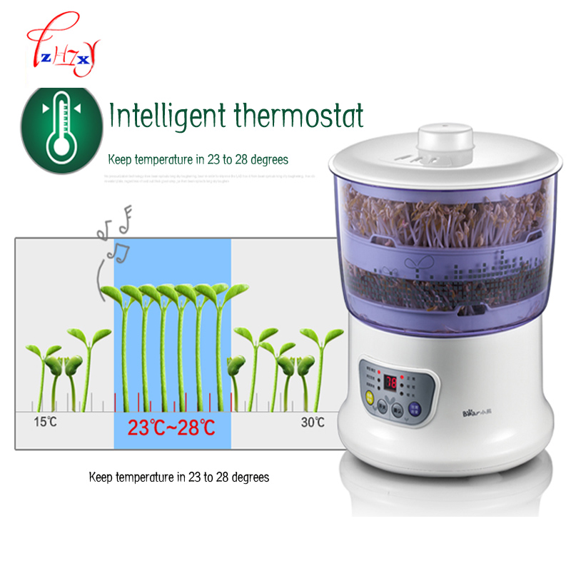 Intelligence Bean Sprouts Machine Large Capacity Thermostat Green Seeds Growing Automatic Bean Sprout Machine 220V 1PC household automatic multi bean sprout machine rice wine yogurt maker machine large capacity thermostat seeds growing machine