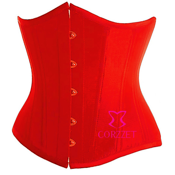 7 Colors Satin Red Sexy Women Latex Best Cincher Waist Trainer Corset Underbust Corselet Boned Cupless Bustier Short Top S-2XL