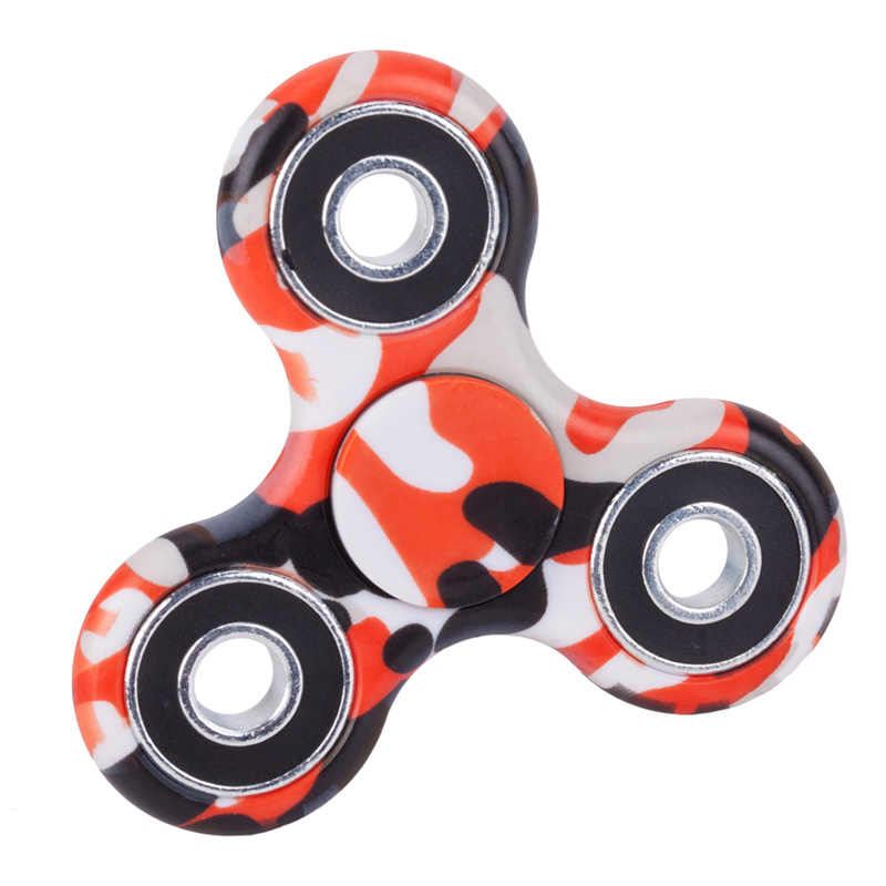 camouflage hand spinner red