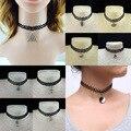 2016 Hot new torques collar Maxi Llanura Cinta de Terciopelo Negro colgante de cristal Bijoux declaración Gargantillas Collar para las mujeres joyería