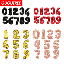Decorate 32inch rose gold red balck number foil balloons wedding event christmas halloween festival birthday party PD-99