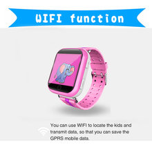 2017 Q100 Q750 GPS baby watch with Wifi 1.54 inch touch screen SOS Call Location Device Tracker for Kid Safe Anti-Lost Monitor