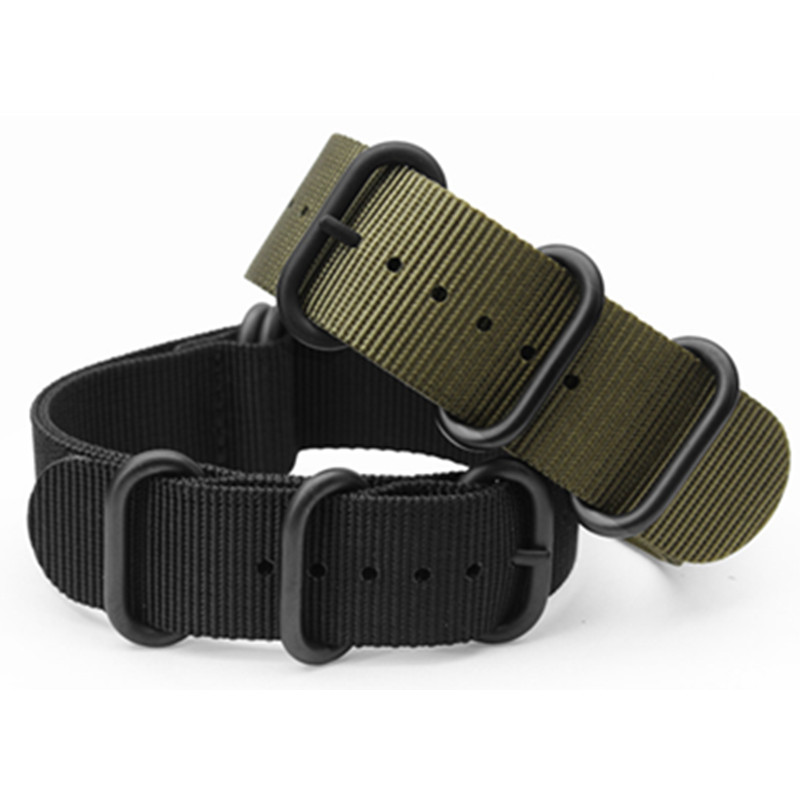 For Suunto Core Nylon Diver Watch Strap Band Kit W Lugs 5-Ring PDV Clasp 20 22 24mm Zulu For Nato G10 + Tools