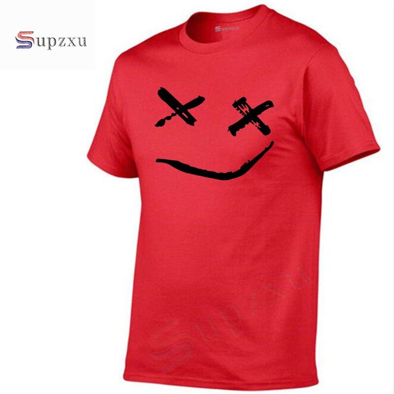 2018 new boy men Long Sleeve male t shirt marshmello face tshirt Men's T-Shirt 100% Cotton Plus Size Homme smile face tops