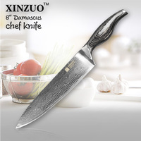 XINZUO 8'' Chef Knife 73Layer Japanese VG10 Damascus Steel Kitchen Knife High Quality Razor Sharp Cleaver Knife Pakkawood Handle