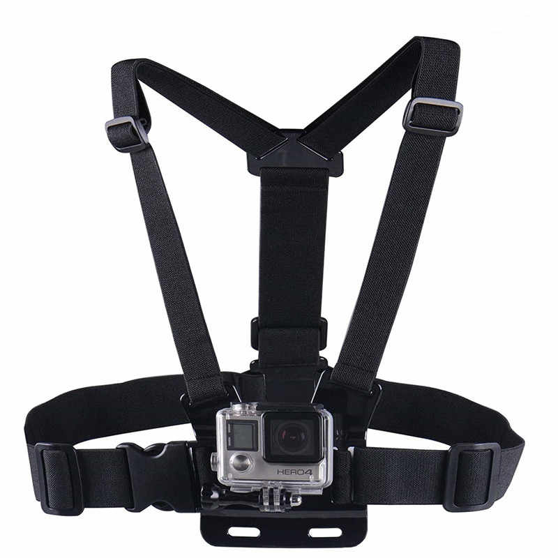 Chest strap Mount kit For GoPro Hero 8 7 6 5 Fully Adjustable Chest Strap For Gopro Session/4/3/HD Original Black Silver Camera