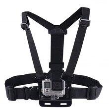Kit de montagem de peito para gopro hero 8, 7, 6, 5, alça peitoral totalmente ajustável, para gopro session/4/3/hd câmera preta original