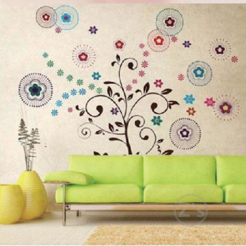 Buy trees wall sticker children home for Vinilos pared aliexpress