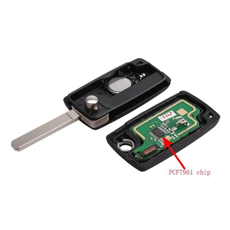 LARATH 3 Buttons Remote Key VA2 433MHz Transponder PCF7961 chip for CITROEN Berlingo PICASSO Saxo car key CE0536 ASK