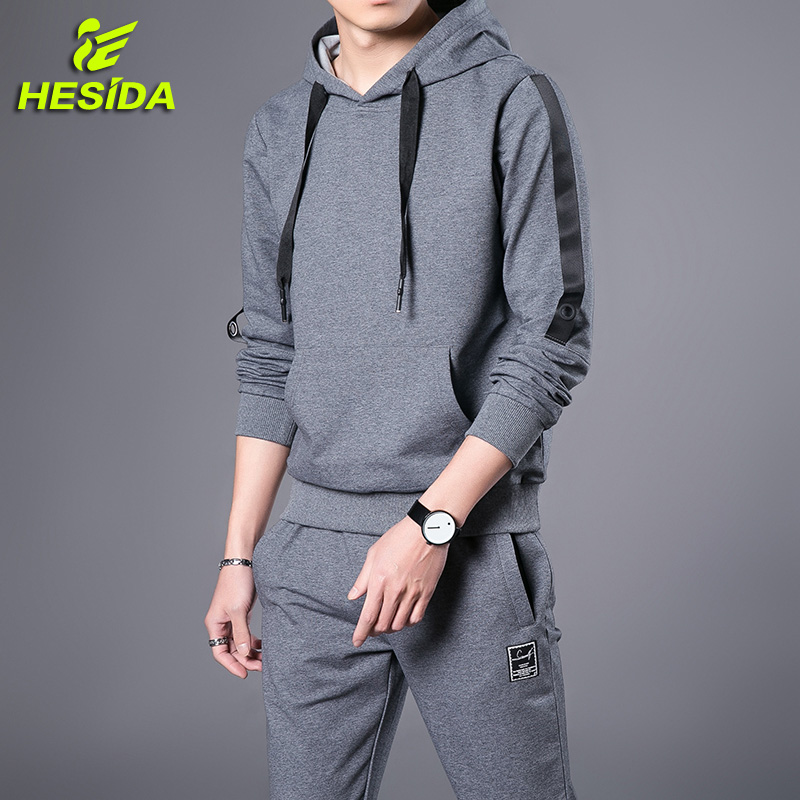 Running Set Sport Suit Men Tracksuit Spring Autumn Hip Hop Pullover Sportswear Hooded Sweatshirt Hoodie Pants Sport Wear For Men