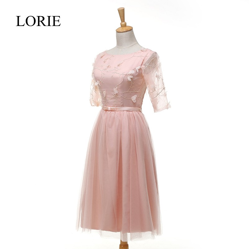 Peach Pink Long elegant maternity dress gown for summer, holiday ...