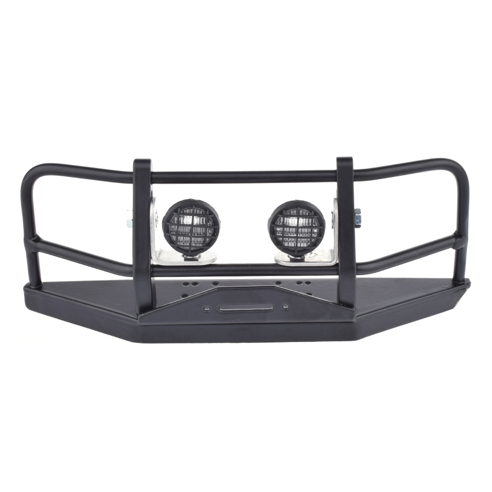 RC 1:10 Rock Crawler Wraith D90 D110 Metal Front Bumper With Lampshade For 1/10 RC Crawler Car Axial SCX10 & SCX10 II 90046 цена