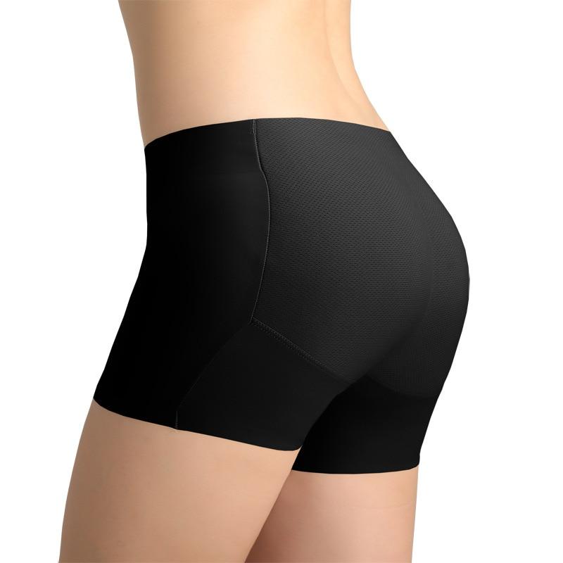 Women Push Up Underwear High Waist Padded Seamless Hip Enhancer Shaper Panties