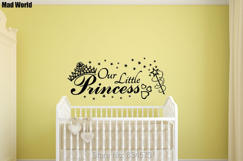 Mad World CROWN OUR LITTLE PRINCESS Stars Wall Art Stickers Wall ...