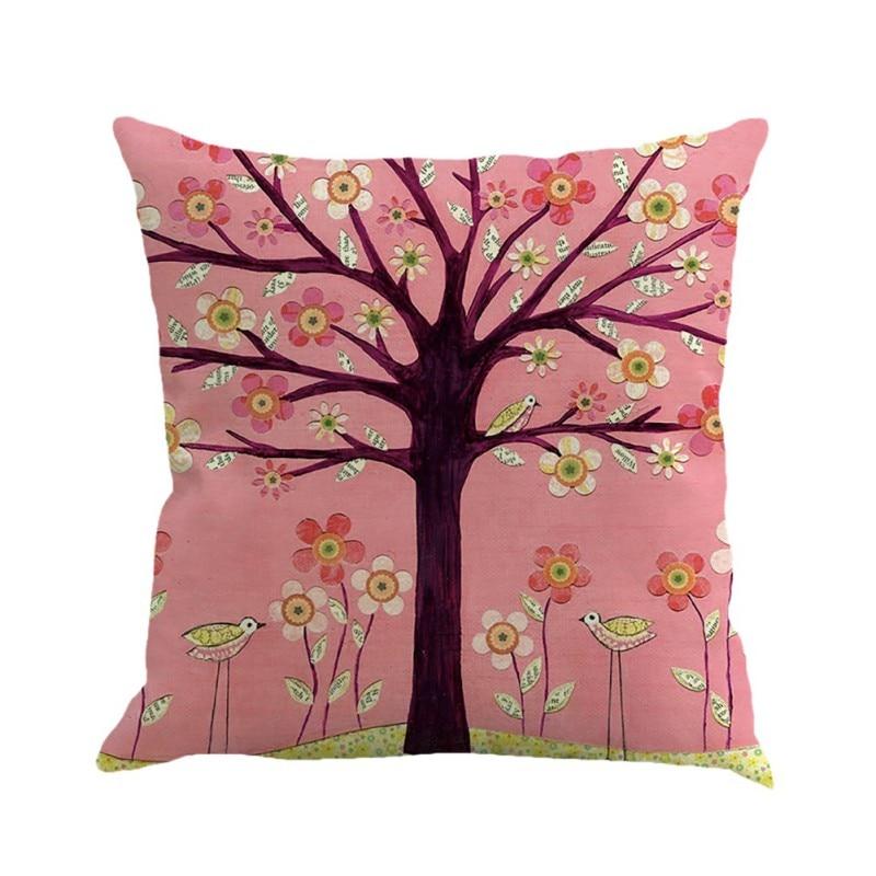 Home Textile Logical Animals Decorative Throw Pillows Flamingos Cotton Linen Cushion Cover Case For Sofa Home Decor Funda Cojines 45x45cm Table & Sofa Linens