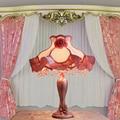 Горячие продажа Европейский стиль розовый настольная лампа роскошь принцесса пастырской свадьба затемнения теплый свадебный подарок декоративные настольные лампы