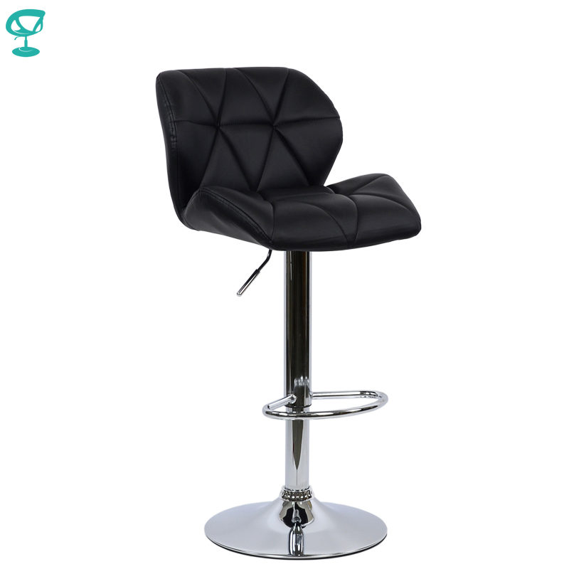 94966 Barneo N-85 Leather Kitchen Breakfast Bar Stool Swivel Bar Chair Black Color Free Shipping In Russia