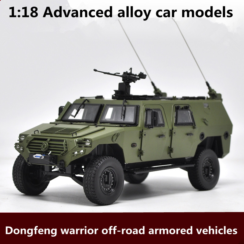 1:18 Advanced alloy car models,Dongfeng warrior off-road armored vehicles model,metal diecasts,toy vehicles,free shipping bburago 360 challengr 1 24 alloy car model toys diecasts