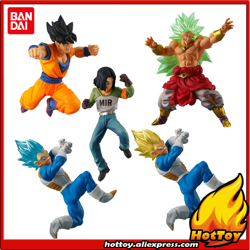 Original Bandai Battle VS Gashapon PVC Toy Figure Part 5 - Full Set of 5 Pcs Goku Broly Vegeta Android 17