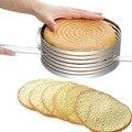 Cortador de pastel de acero inoxidable, rebanador de pastel de pan redondo ajustable, rebanador de pastel, molde de anillo, herramientas de cocina para hornear DIY