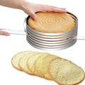 Hot Stainless Steel Cake Cutter Slicer Adjustable Round Bread Cake Cutter Slicer Cake Ring Mold DIY Baking Kitchen Tools Kitchen