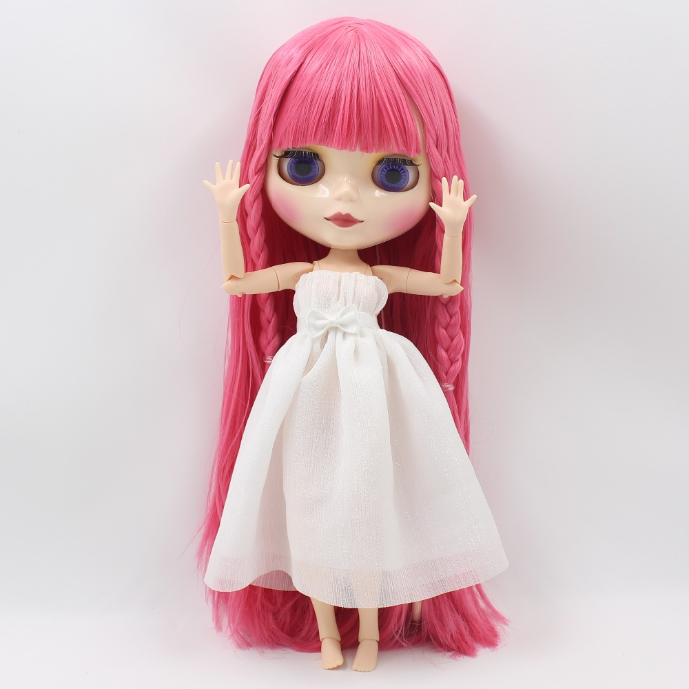 Joint body Nude blyth Doll Factory doll rose red hair