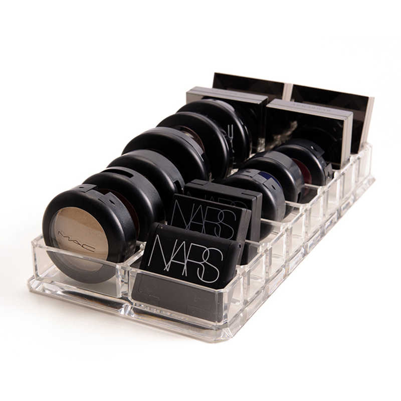 New Clear Acrylic 16 Grids Makeup Organizer Makeup Powder Storage Box Lipstick Makeup Tools Eye Shadow Case Jewelry Cosmetic Box