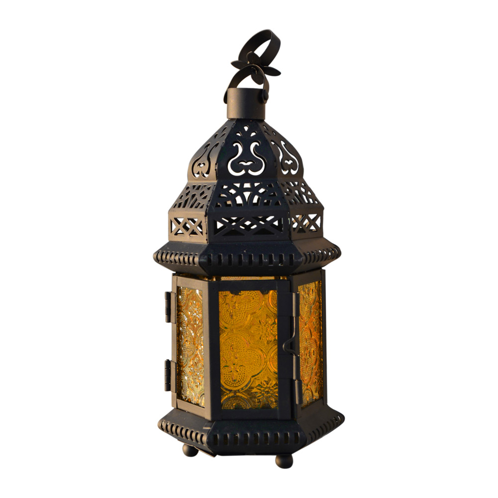 NEW Vintage Glass Iron Moroccan Delight Garden <font><b>Candle</b></font> Holder Table LED Hanging Lantern Fine for Home Wedding Party Decoration